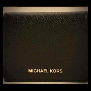 MICHAEL KORS MERCER LEATHER CARD HOLDER WALLET